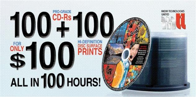 pre printed disc promotion